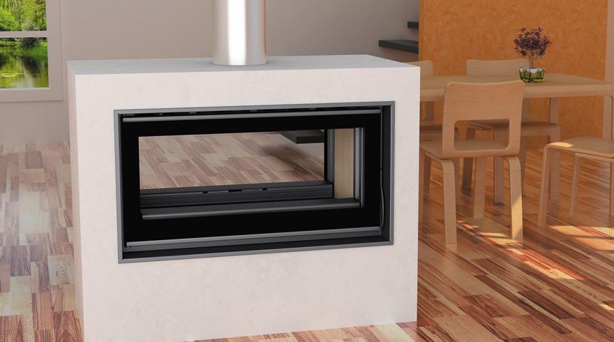 Salones con estufas de lena dise os arquitect nicos - Chimeneas de lena y pellets ...