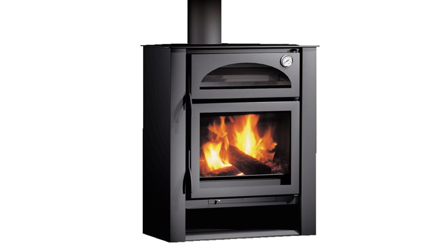 Carbel chimeneas y estufas de le a estufa con horno h5r - Chimenea con horno de lena ...